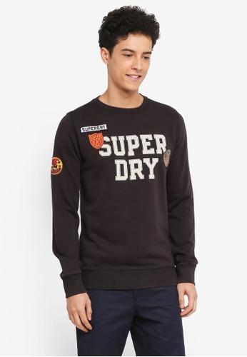 Superdry black Upstate Wash Crew Sweatshirt FB8A2AA9BA1AB7GS_1