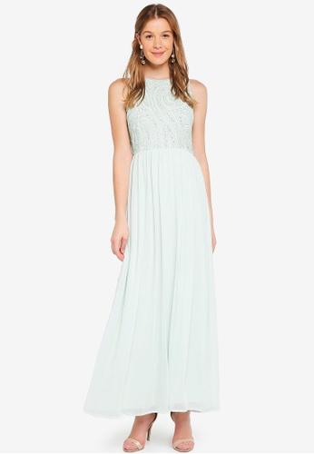 Angeleye green Mint Green Sleeveless Embellished Dress 8A252AA4BAB2D9GS_1