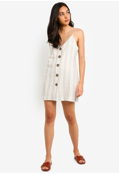 ceae33f9 30% OFF TOPSHOP Petite Stripe Button Mini Slip Dress S$ 79.90 NOW S$ 55.90  Sizes 4 6 8 10 12