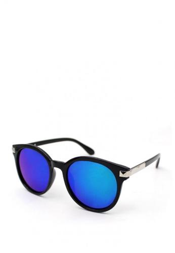 Peculiar and Odd black Classic Round Oversized 5161 Sunglasses D8E8BGLCBBBB4EGS_1