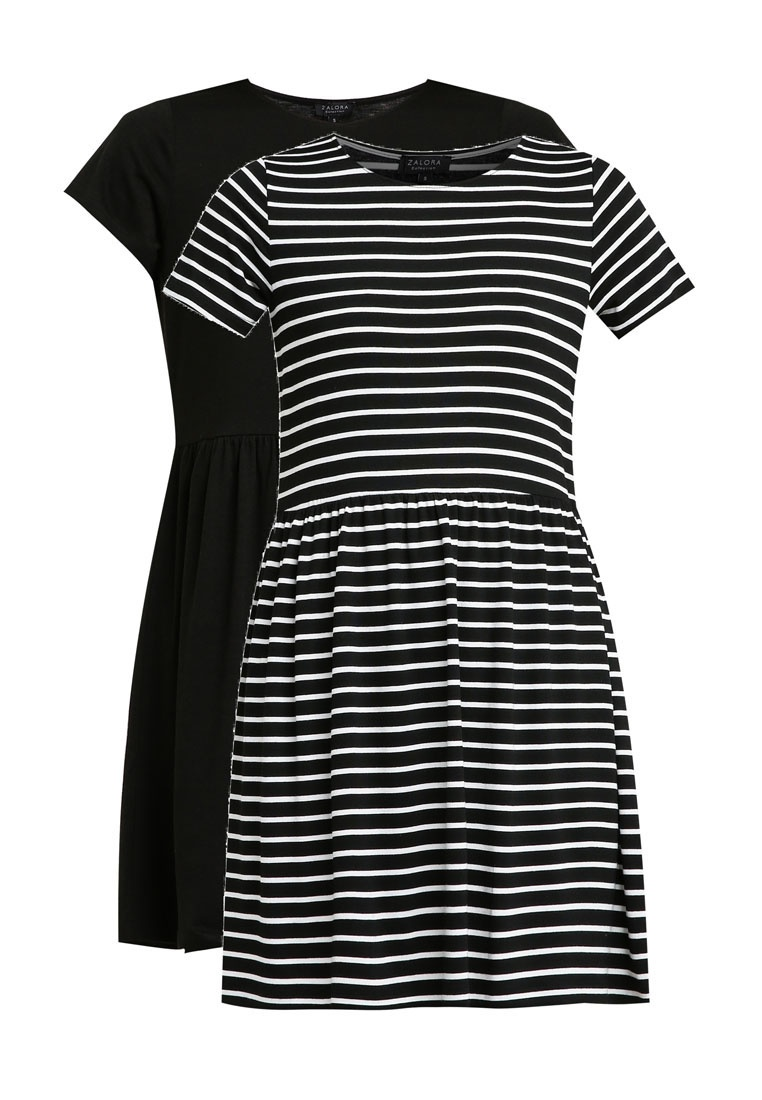 Doll Dress amp; Baby ZALORA BASICS Black Pack Essential 2 White Stripe Black wqzatIx