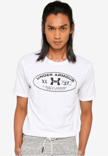 Under Armour white Men's 25th Anniversary Short Sleeves Tee 82D41AA1B3E9D5GS_1