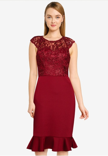 CHI CHI LONDON red Chi Chi Aniah Dress 7A952AACACBE57GS_1