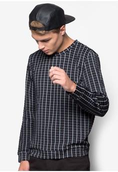 Textured Grid Sweatshirt