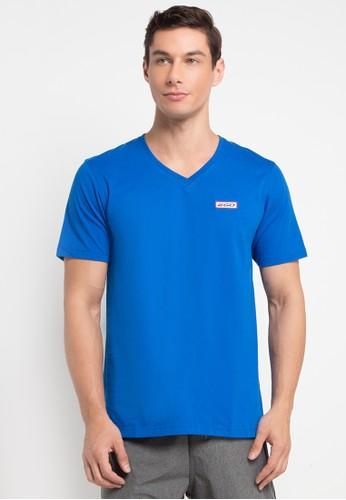 2GO blue Half Sleeve V-Neck T-Shirt 2G138AA0V5TCID_1
