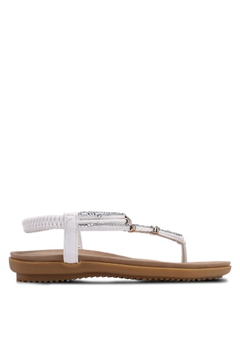 Mimosa white Embellished Sandals 11C3FSH108CBE8GS_1