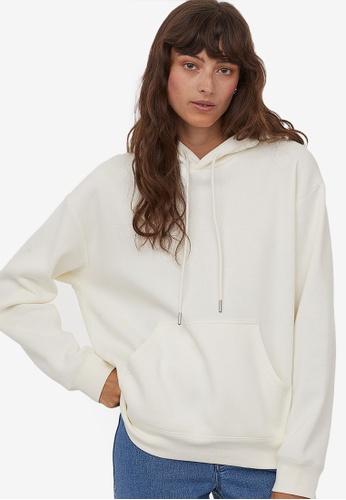 H&M white Hooded top 96CCDAAEF266F0GS_1