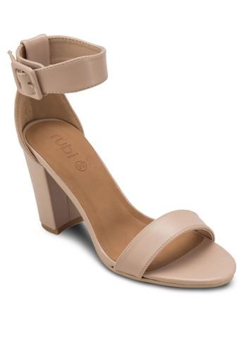 San Fran 扣環踝esprit 台中帶粗跟高跟涼鞋, 女鞋, 鞋