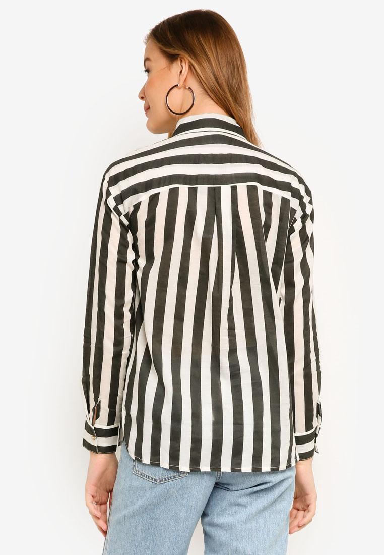 ICHI Corin ICHI Corin Black Shirt Striped Corin Striped Black ICHI Shirt qOA4aY