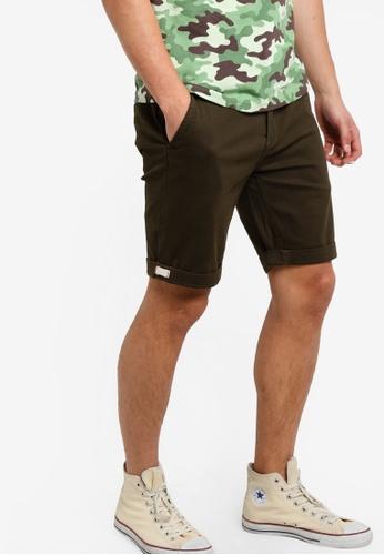 UniqTee green Slim Fit Bermuda Shorts UN097AA85NQOMY_1