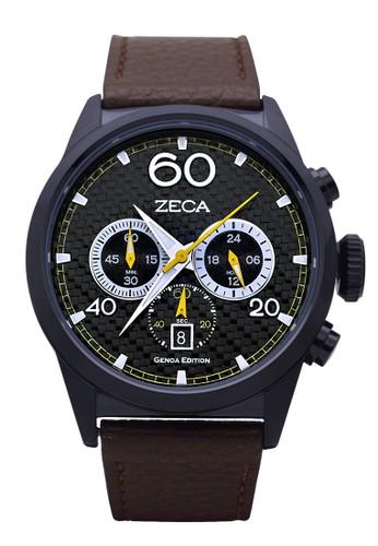 ZECA black and brown Jam Tangan Pria 240M.LBR.C.BL..2 ZE074AC32FAPID_1