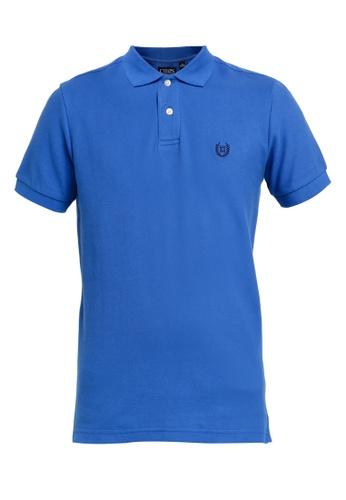 Chaps blue Chaps Cotton Mesh Polo Shirt 6E56DAADBF6EF3GS_1