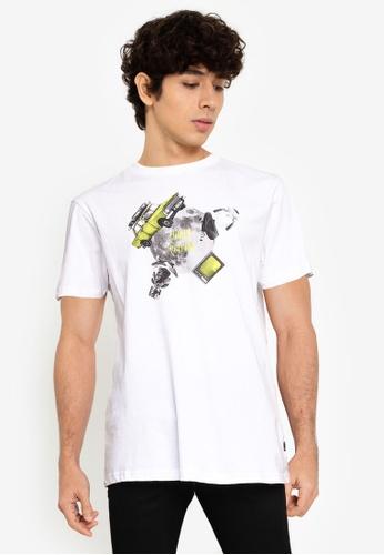 Springfield white Urban T-Shirt C5A2BAAB86D046GS_1
