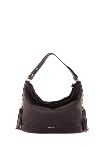 SEMBONIA purple SEMBONIA Genuine Leather Hobo Bag SE598AC95JVGMY_1
