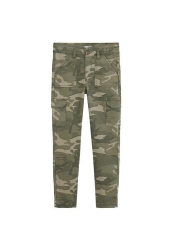 MANGO KIDS beige Camo-Print Cargo Trousers ED5E2KA3804FA0GS_1