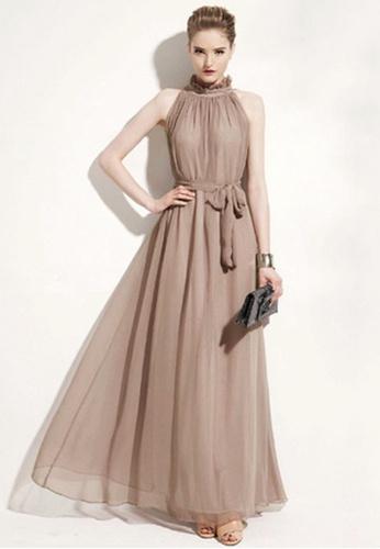 Twenty Eight Shoes brown VANSA Chiffon Maxi Dress  VCW-D0183 DE763AAE4B6456GS_1