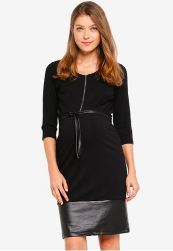 Mama.licious black Nursing Leather Look Dress 02F54AA32912BEGS_1