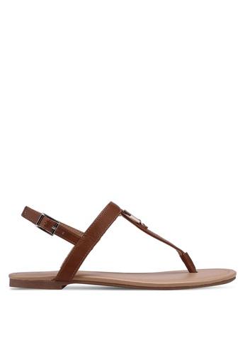 Call It Spring brown Jadene Flat Sandals 9D8C4SH3F7ABC1GS_1