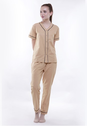 JOYFULIE brown Cindy Pajamas Brown 50ADAAAD528AEFGS_1