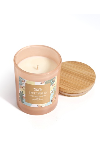 Happy Island brown Sweet Vanilla Soy Candle 8oz 92AD5HL1E73860GS_1