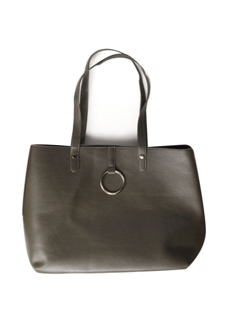 Strappy Buckle Tote Bag
