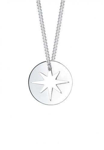 Elli Germany silver Perhiasan Wanita Perak Asli - Silver Kalung Star Coin Basic EL948AC30GHDID_1