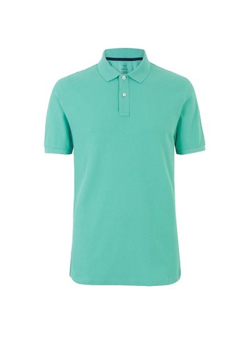 MARKS & SPENCER green Pure Cotton Polo Shirt 522DCAA76F5F1DGS_1