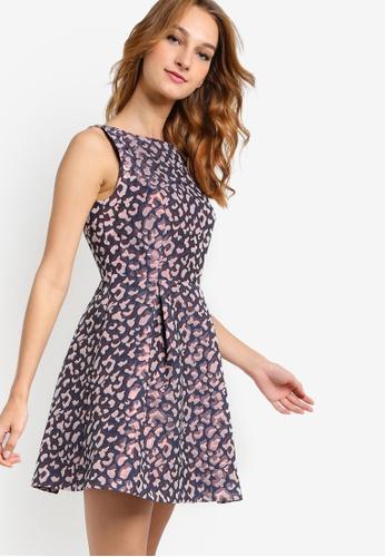 Petite-Animal-Jacquard-Evening-Dress