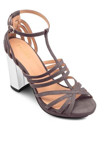 多帶粗跟高跟涼鞋, 女zalora taiwan 時尚購物網鞋子鞋, 鞋