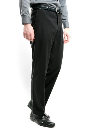 MANLY black MANLY Carters Regular Fit Black Formal 23AD4AAC9409A3GS_1