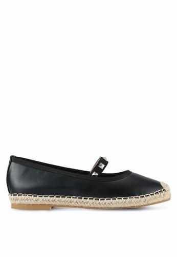 Something Borrowed black Studded Ballerina Espadrille Flats 10B18SH1366464GS_1