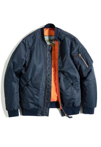 Twenty Eight Shoes blue VANSA Casual Stand Collar Coat VCM-C2007164 3190BAA4B7A0F5GS_1