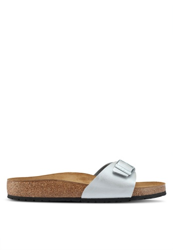 Birkenstock silver Madrid Sandals F5509SHF67AACEGS_1
