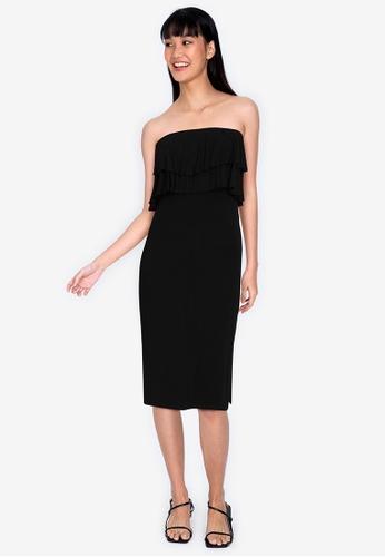 Chictees black Sophie Tube Dress 80B54AA41285E1GS_1