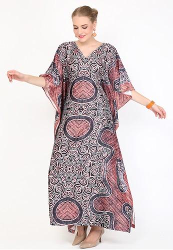 Kanzi by liza yahya pink Kanzi Exclusive Short Sleeve Batik Kaftan Dusty Pink 8D76CAA8383D89GS_1