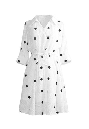 Twenty Eight Shoes white VANSA Polka Dots Midi Dress  VCW-D5504 F0B6FAAA3F8402GS_1