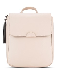 Saffiano Flap Backpack