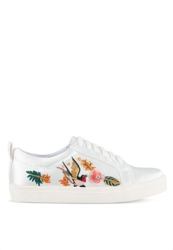 ZALORA white Embroidered & Sequin Sneakers AFCBEZZ538753DGS_1