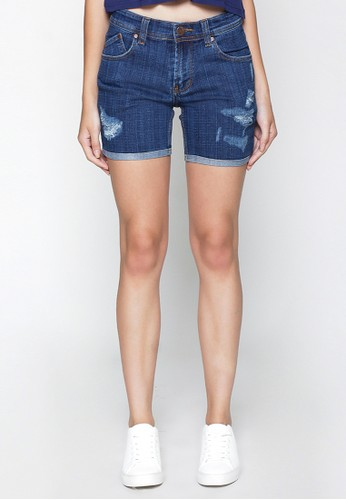 2Nd Red Ripped Denim Shorts 261622