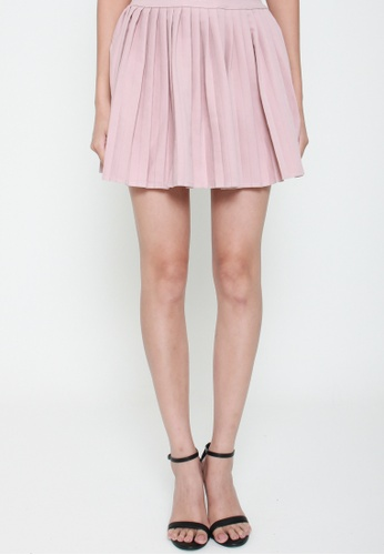9d23aae4fe Sophialuv pink Com-Pleat Your Look Mini Skirt in Rose 652F7AAD0D7759GS 1