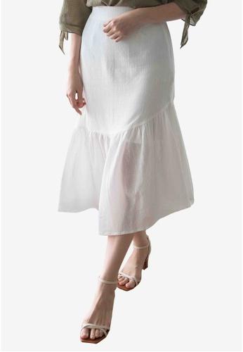 We Enjoy Simplicity white July Ruffles Skirt (White) 6DECDAAAC40771GS_1