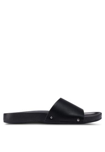 Bata black Slide-On Sandals D678FSH935C4EBGS_1