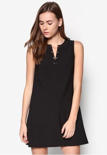 金屬孔A字連身裙, 服飾, zalora 心得服飾