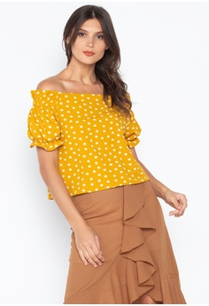 f446a6b102 ForMe yellow Twill Blouse With Off-Shoulder AC7DAAA3C475E0GS_1