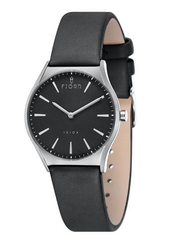 Fjord black Fjord Women's Genuine Leather Watch - FJ-6042-01 E12A1AC73DFEC7GS_1