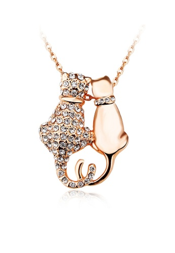 OUXI gold OUXI Romantic Kitties Necklace OU821AC84EELMY_1