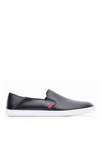 Life8 black 2-Ways for wearing leather casual shoes-09743-Black LI283SH0GYP6SG_1