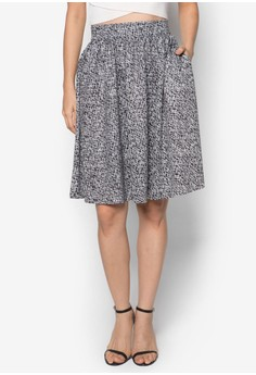 Collection Printed Full Midi Skirt