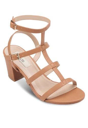 Elsiesprit暢貨中心e 多帶繞踝粗跟涼鞋, 女鞋, 細帶高跟鞋
