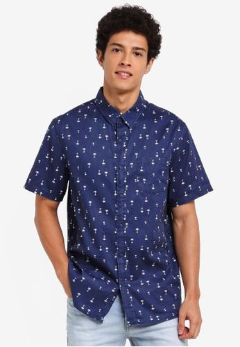 Factorie navy Indie Shirt 858B4AAAB60AC7GS_1